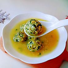 #好吃不上火#山野之味 | 养生荠菜豆腐圆子汤