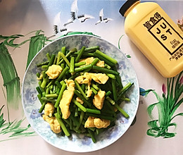 #植物蛋 美味尝鲜记#蒜苔炒鸡蛋的做法