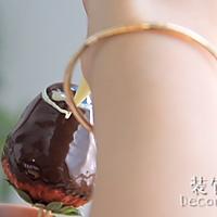 献礼祖国70周年·浓情巧克力草莓棒·为祖国加油喝彩的做法图解8