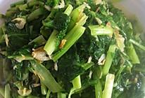 虾皮炒小苔菜的做法