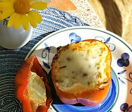 #餐桌上的春日限定#烤箱版芝士菠菜肉末酿甜椒的做法