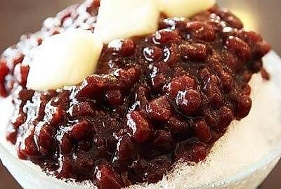 自制刨冰红豆,又称蜜豆哦