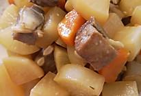 白萝卜炖羊排的做法