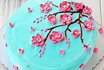 梅花奶油霜蛋糕#松下烘焙魔法学院#的做法