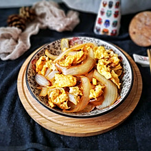 #换着花样吃早餐#洋葱炒鸡蛋