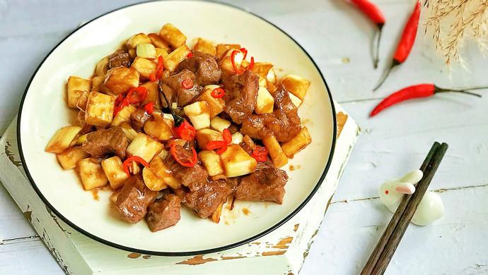#花10分钟,做一道菜!#茭白牛排粒