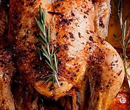 多汁迷迭香烤鸡Rosemary chicken的做法