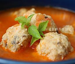 番茄鸡胸肉丸汤