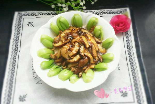 蚝汁香菇油菜的做法