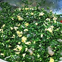 鸡蛋韭菜虾仁饺子的做法图解3