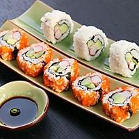 上班族的活力营养午餐 反卷寿司·加州卷·的做法图解8