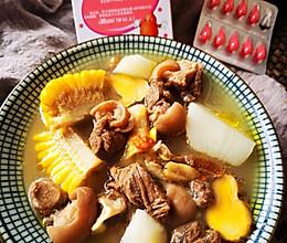 #一起加油,我要做A+健康宝贝#暖胃滋补:萝卜玉米羊肉汤的做法