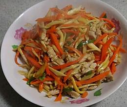 杏鲍菇炒肉丝的做法