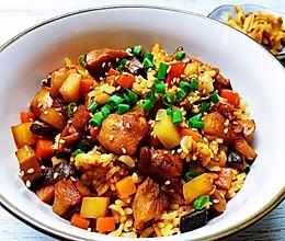 电饭煲香菇鸡腿饭的做法