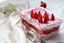 草莓盒子蛋糕#黑人牙膏一招制胜#的做法