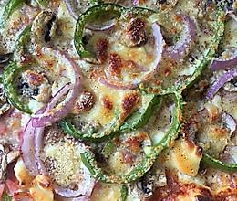 镶边土豆培根披萨的做法