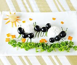 汤圆之趣味摆盘——蚂蚁搬家的做法