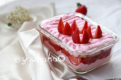 草莓盒子蛋糕#黑人牙膏一招制胜#