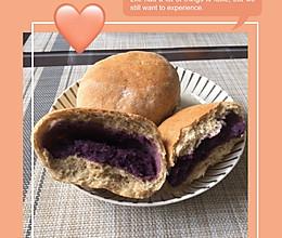 无油无糖全麦紫薯面包的做法