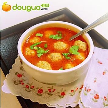茄汁小肉圆的做法
