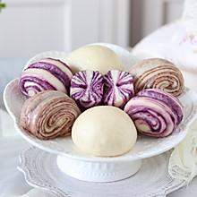#今日吃什么#紫薯豆沙花卷