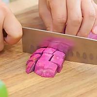 紫薯爆浆芝士仙豆糕 宝宝辅食食谱的做法图解2