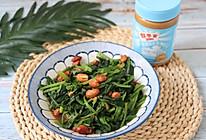 #四季宝蓝小罐#花生酱拌菠菜的做法
