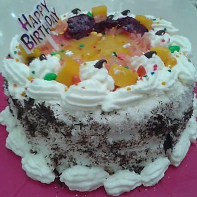 6寸蛋糕坯的做法及第一次做的送婆婆的生日蛋糕