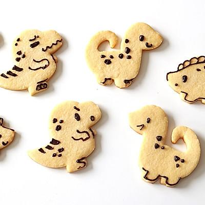 无需模具做可爱小恐龙饼干 快乐假日亲子烘焙