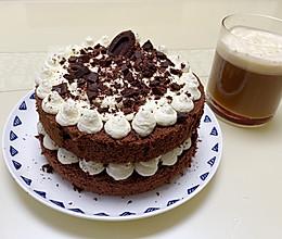 6寸巧克力裸蛋糕的做法