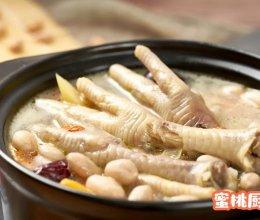 花生鸡爪汤的做法