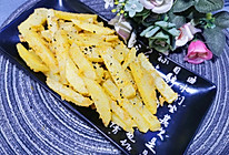 #夏日撩人滋味#非油炸蛋黄焗薯条的做法