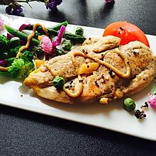 香煎低脂鸡胸肉#春天不减肥,夏天肉堆堆#