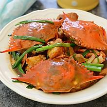 一人三只都不够吃的姜葱炒蟹