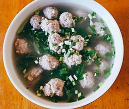 青菜肉圆子汤的做法