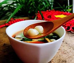 #憋在家里吃什么#咸汤圆,鲜香可口,太美味的做法