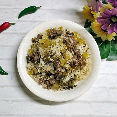 酸菜牛肉炒饭