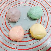 马卡龙色千层蛋黄酥 中式糕点#每道菜都是一台食光机#的做法图解8