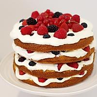 水果奶油裸蛋糕