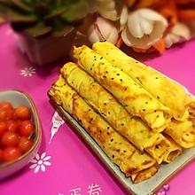 平底锅版手工鸡蛋卷#甜蜜厨神#