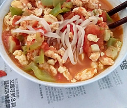 番茄鸡蛋捞面条的做法