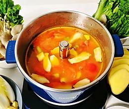 快手番茄火锅汤底的做法