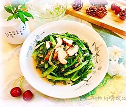 低热量,高营养-香菇油麦菜的做法