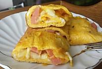 马苏里拉乳酪配火腿鸡蛋卷的做法
