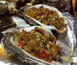 蒜香烤海蛎子(烧烤生蚝)的做法