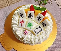 麻将蛋糕的做法