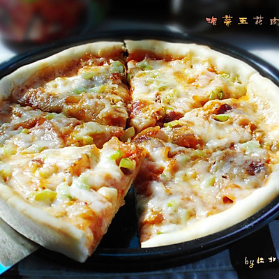 泡菜控看过来--泡菜五花肉披萨