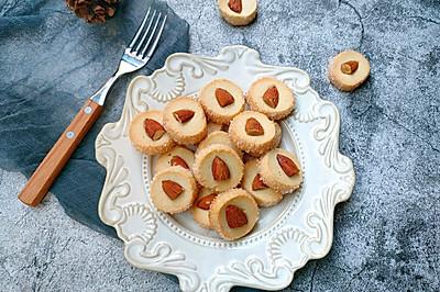 网红酥脆香甜的莎布蕾钻石杏仁曲奇