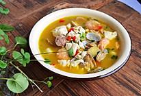#营养小食光#助力高考开胃菜——海鲜豆腐汤的做法
