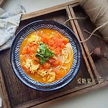 西红柿打卤面#10分钟早餐大挑战#